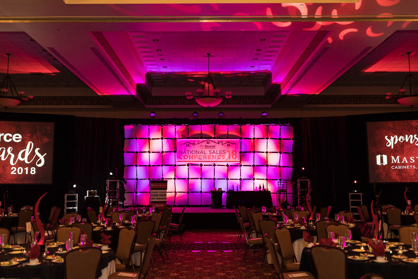 ProSource National Sales Conference staging and rounds at the St. Charles Convention Center