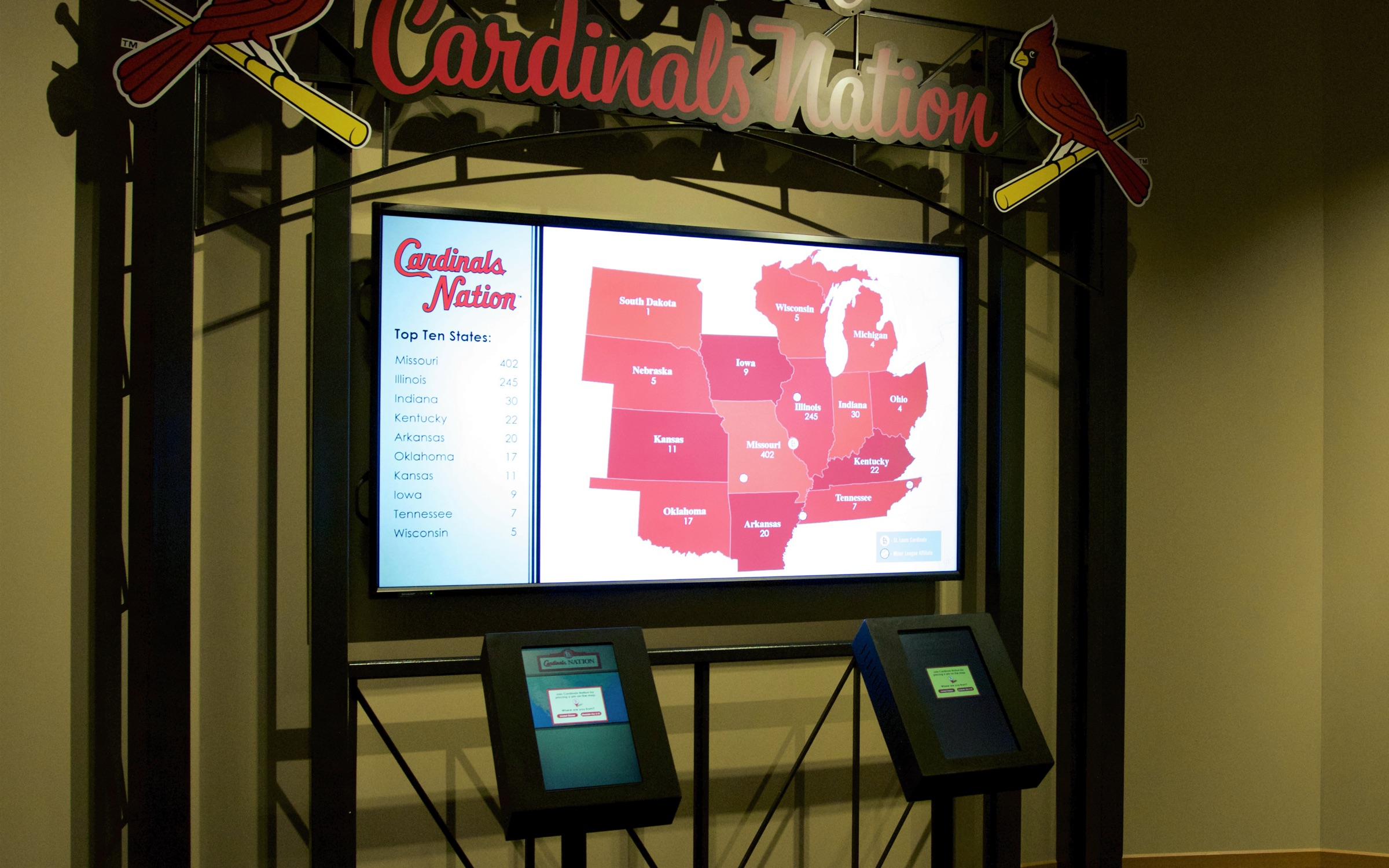 St. Louis Cardinals Hall of Fame Cardnials Nationa exhibit