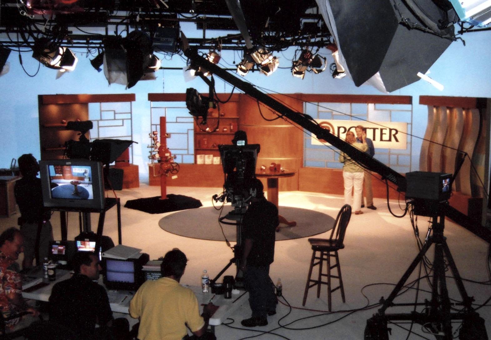 Potter video studio shoot