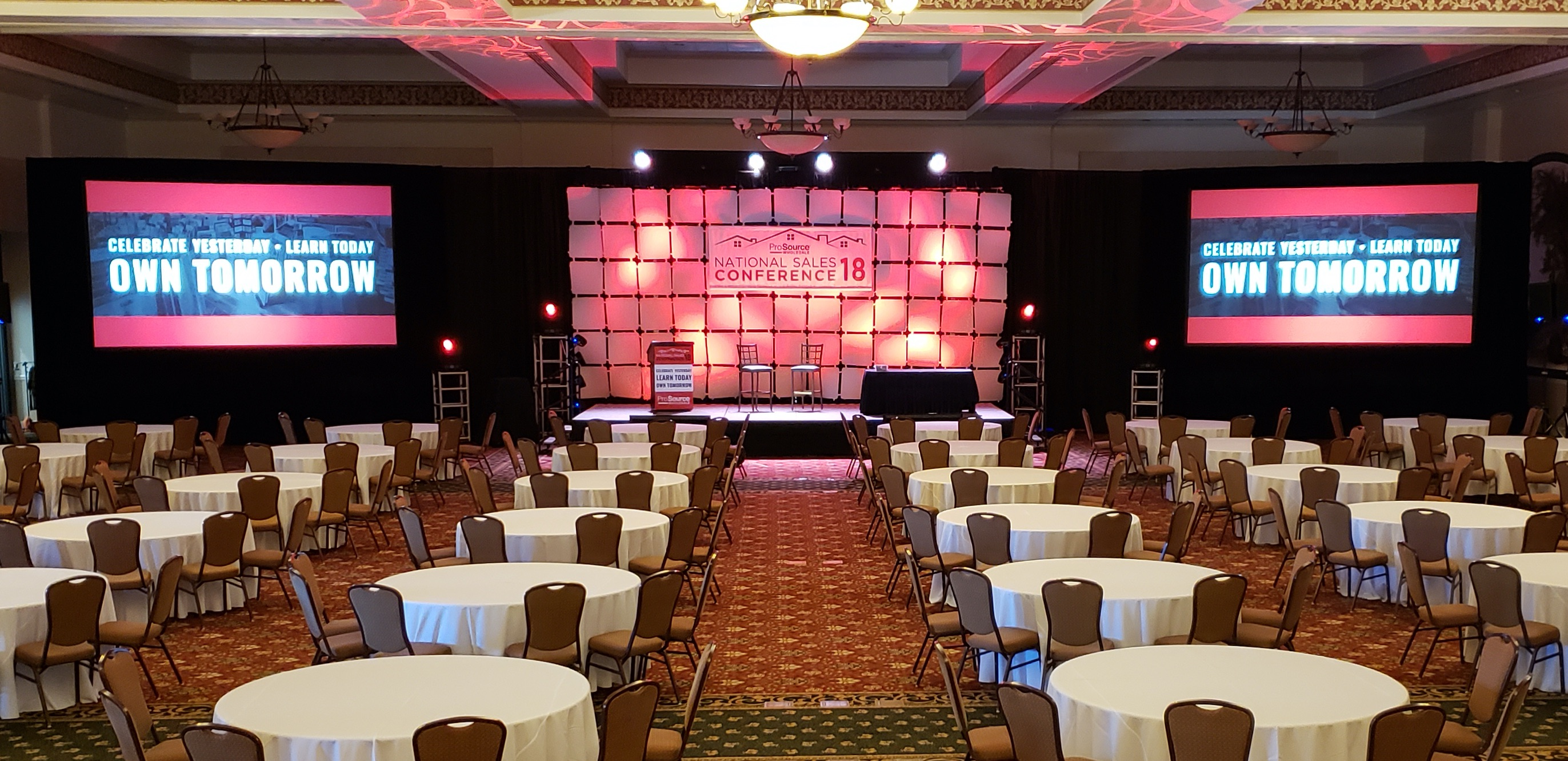 ProSource Wholesale 2018 National Conference stage event Audiovusal